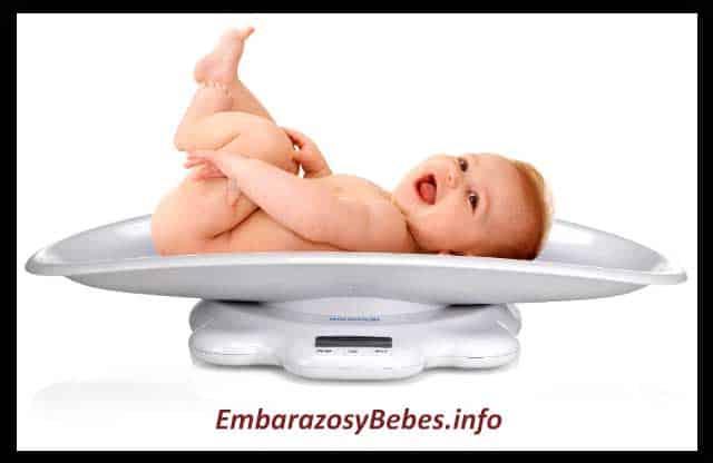 talla y peso del bebe