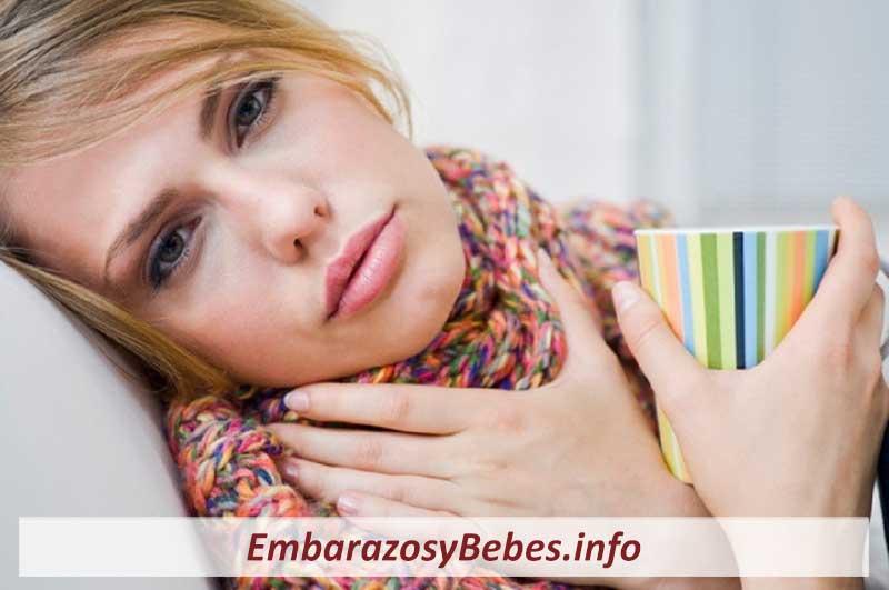 dolor de garganta durante el embarazo