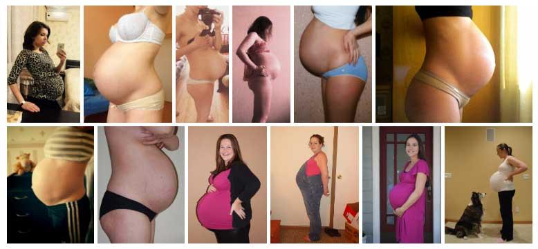 Semana 40 de Embarazo Panza